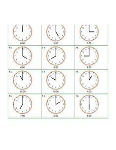 Odczytywanie godzin na zegarze - ćwiczenia do druku za darmo Map, Location Map, Maps