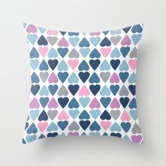 #hearts #heart #love #pink #blue #projectm project #emeline #pillow #case