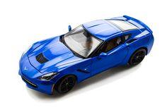 2014 Chevy Corvette Stingray Z51 - 1/18 - Blue - Maisto Diecast Models