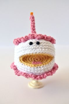 Amigurumi birthday cake by The Pudgy...