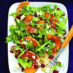roasted squash salad with cranberries.