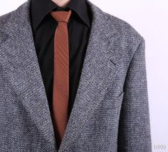 Vintage original 60s numbered Harris Tweed jacket - a classical quality statement piece made of wool tweed in bluish gray. Description from etsy.com. I searched for this on bing.com/images