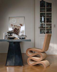 Silla Wiggle Side Chair, de Frank Ghery