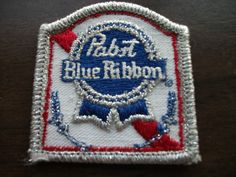 Vintage Pabst Blue Ribbon Beer Patch Embroidered PBR Drinking Alcohol Bar   eBay