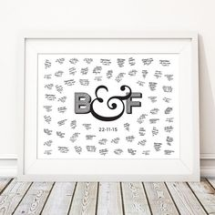 This beautiful (Unframed) 'AMPERSAND' wedding guest book print makes the perfect unusual alternative to the traditional guest book and is