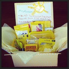 """A box of sunshine"" - Thank you for making me bright!  A fun teacher's gift!"