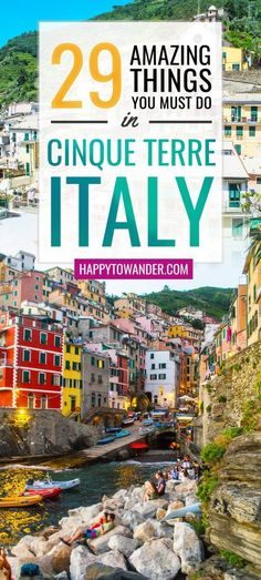 Wow - the best Cinque Terre, Italy guide out there! Recaps all the important must-dos during a Cinque Terre visit. Don't miss this if you're planning on travelling to Italy. #Italy #CinqueTerre #Wanderlust