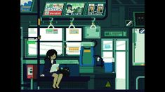 gif animation japan pixel art - beautifully captured daily life in Japan - train Pixel Art Gif, Pixel Art Games, Pixel Pixel, Vaporwave, Gif Animé, Animated Gif, Game Design, Animation Pixel, Art Magazin