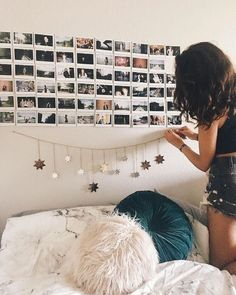 Picture wall and string star decor