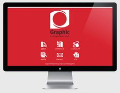 Graphic Technology Corporate Website.  #webdesign #design #splashpage #graphictechnology