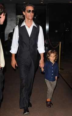 Handsome father and son duo: Matthew McConaughey and Levi