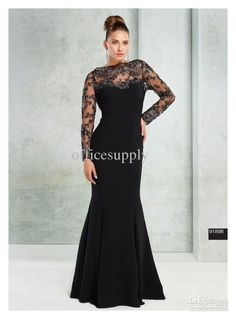 Wholesale Sexy Black Mermaid Satin Mother of the Bride Gown with Lace Bolero Jacket TE 91898, Free shipping, $112.0-128.8/Piece | DHgate