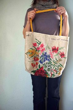 DIY: tea towel tote bag