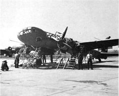 Junkers Ju 288 (1940) bomber prototype. Cancelled in 1944. Picture - early prototype with single tail