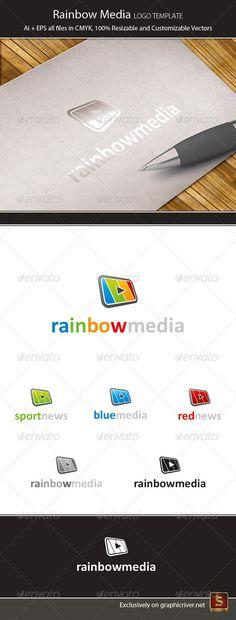 Rainbow Media   Logo Design Template Vector #logotype Download it here: http://graphicriver.net/item/rainbow-media-logo-template/4439052?s_rank=1260?ref=nexion