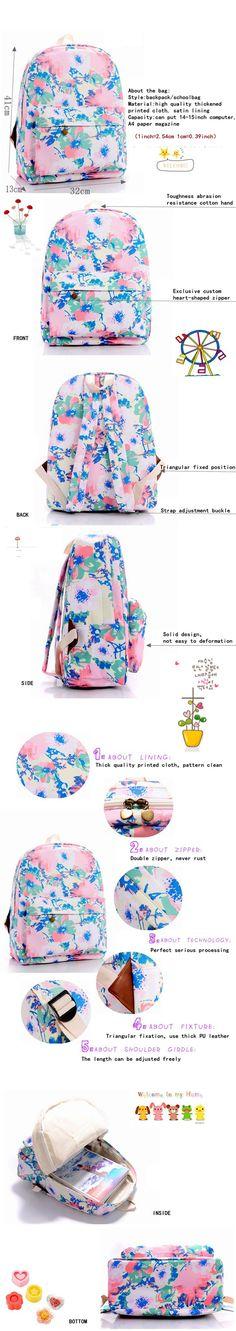 Korean Harajuku Pink Floral Printing Backpack Fashion Campus School Bag For Teens mochilas escolares femininas  http://playertronics.com/products/korean-harajuku-pink-floral-printing-backpack-fashion-campus-school-bag-for-teens-mochilas-escolares-femininas/