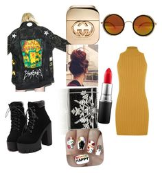 """Good Charlotte"" by madamerasta on Polyvore featuring WearAll, Hazmat Design, Judith Leiber, MAC Cosmetics, Gucci and Nail Pop"
