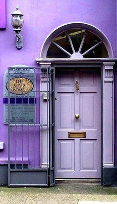 Purple door in Dublin, Ireland. Grand Entrance, Entrance Doors, Doorway, Garage Doors, Cool Doors, Unique Doors, Portal, Purple Door, When One Door Closes