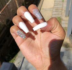 Long acrylic nails dope nails, sexy nails, nails on fle. Coffin Nails Matte, Aycrlic Nails, Sexy Nails, Bling Nails, Hair And Nails, Simple Acrylic Nails, Square Acrylic Nails, Summer Acrylic Nails, Best Acrylic Nails