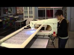 Video 9 How to Stitch a Pantograph with a longarm quilting machine - YouTube