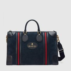 9623e57564 Gucci Suede duffle bag with Web