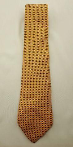 Lauren Ralph Lauren Neck Tie Orange Purple Red Dog Design 100% Silk Free Ship #LaurenRalphLauren #Tie