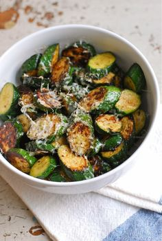 Parmesan Lime Zucchini Coins | Fresh and Healty Recipes for Dinner