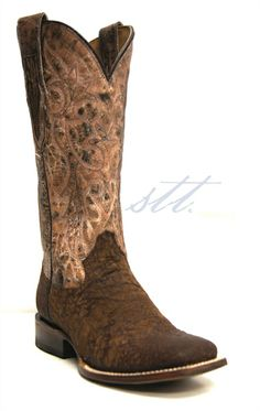 Roper Women's Full-Grain Leather Exotic Smooth Ostrich Distressed Cowgirl Boots | These women's boots by Roper feature exotic smooth ostrich leather with a distressed finish. The embroidered shaft gives a beautiful contrast to the darker bottom. | SouthTexasTack.com