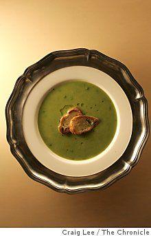 Sweet Pea & Green Garlic Soup