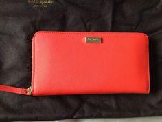 Kate Spade Newbury Lane Neda zip around wallet clutch Tamalered check it out on eBay a.patel_89