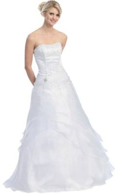 Ball Gown Strapless Formal Prom Wedding Dress #2581
