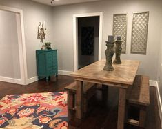 Custom Farmhouse Furniture For Every Room in your Home! by CustomWoodWorxShop Farmhouse Furniture, End Tables, Entryway Tables, Room, Home Decor, Bedroom, Mesas, Decoration Home, Room Decor