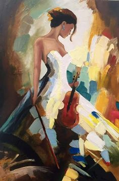 Oil Painting Flowers Art Abstract Oil Painting On Canvas Oil And Gas Artwork Wrapped Canvas Wall Art Flowers And Leaves Paintings Oil Painting Flowers, Oil Painting Abstract, Figure Painting, Painting & Drawing, Watercolor Art, Violin Painting, Knife Painting, Art Floral, L'art Du Portrait