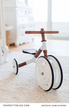 Beautiful Wooden Kids Bike | Photography by Claire Courtney