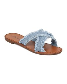 53c14faad99e online shopping for Breckelle s Women Frayed Denim Sandal - Open Toe Flat  Sandal - Cross Band Slipper - from top store. See new offer for Breckelle s  Women ...