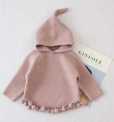 Lawadka 2018 Girls Sweaters Solid Hooded Knitted Baby Girl Sweaters with Pompom Winter Warm Outerwear Kids Clothing Source by Pekablu clothes Kawaii Clothes, Cute Baby Clothes, Diy Clothes, Style Clothes, Fashion Clothes, Fashion Accessories, Fashion Jewelry, Baby Girl Fashion, Fashion Kids
