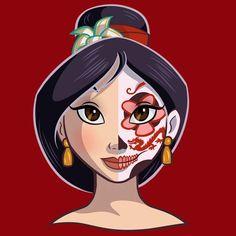 Princesas Disney como caveiras mexicanas   Just Lia