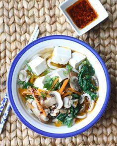 Season with Spice - an Asian Spice Shop: Mushroom & Tofu Udon Noodle Soup
