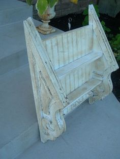 Shelf made from old corbels