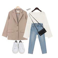 Kpop Fashion Outfits, Korean Outfits, Retro Outfits, Cute Casual Outfits, Stylish Outfits, Korean Girl Fashion, Korean Fashion Trends, Ulzzang Fashion, Look Fashion