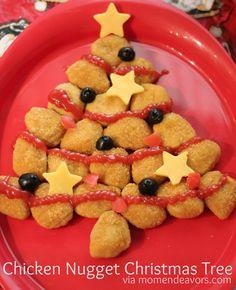 Chicken Nugget Christmas Tree