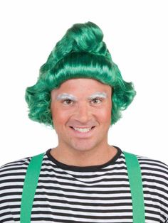 Glitter with Green Christmas Oompa Elf Costume Wig Adult. Amazing Ideas of Elf Wigs for Christmas at PartyBell. Oompa Loompa Halloween, Christmas Elf Costume, Wholesale Halloween Costumes, Green Costumes, Green Wig, Funny Costumes, Fantasy Costumes, Costume Wigs, Green Christmas