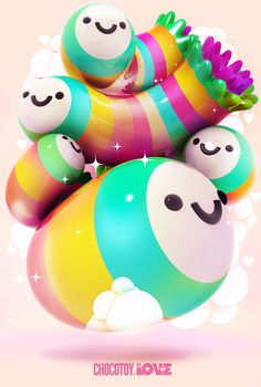 Collection illustration /5 by ChocoToy, via Behance