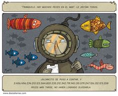 "Fun Spanish worksheet based on a recent comic strip from Chile about the expression ""there are lots of fish in the sea""."