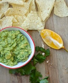 A Purist's Guacamole:  just six simple ingredients in this version of guacamole.