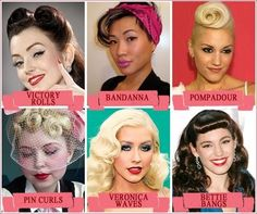 Video Tutorials on How To do all these Pinup Hairstyles... FUN!