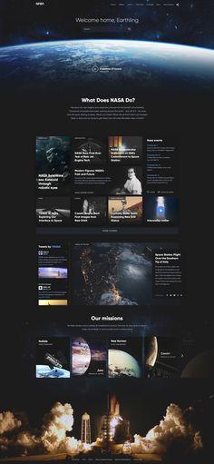 NASA website concept by Barbara Morrigan