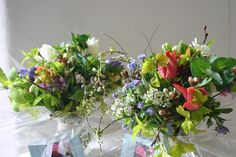 Easter posies from www.commonfarmflowers.com