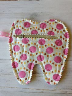 Quilted Tooth Fairy Zipper Pouch coin purse treats by CurbysCloset, $5.50