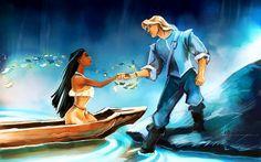 Pocahontas and John Smith fan art